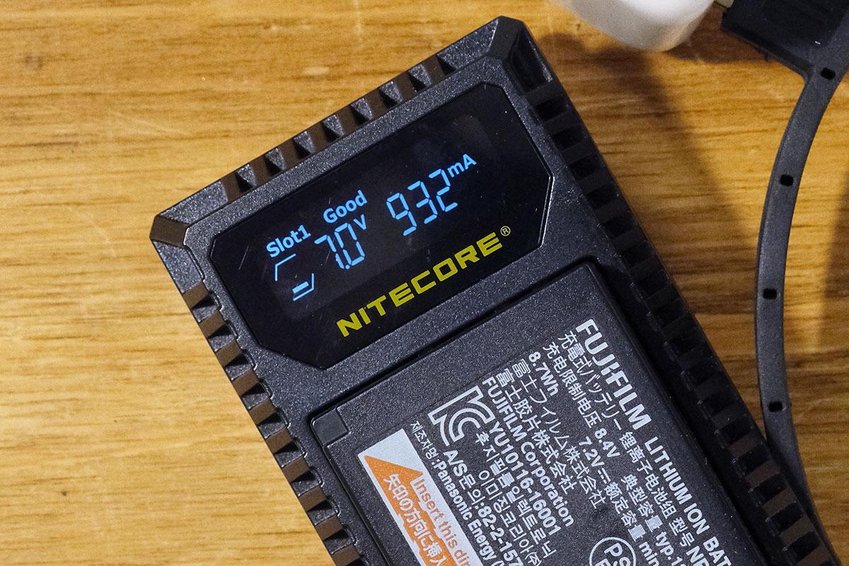 NITECORE FX1 Dual Slot USB Charger for FUJIFILM X NP-W126 / NP-W126S USBバッテリー充電器